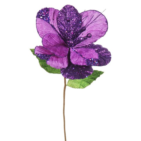 Vickerman 22-inch Purple Amaryllis with 10-inch Flower (Pack of 6)