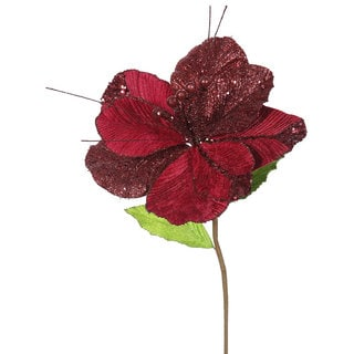 Vickerman Burgundy 22-inch Amaryllis with 10-inch Flower (Pack of 6)