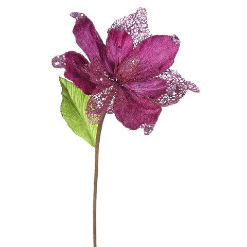 22-inch Mauve Magnolia with 8-inch Flower (Pack of 6)