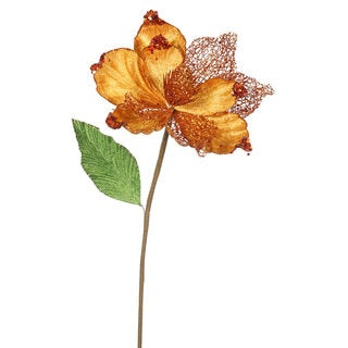 Vickerman 22-inch Copper Magnolia with 8-inch Flower (Pack of 6)