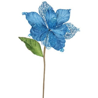 Turquoise 22-inch Magnolia with 8-inch Flower (Pack of 6)