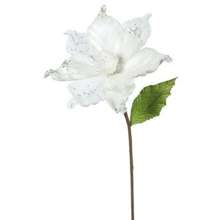 22-inch Cream Magnolia with 8-inch Flower (Pack of 6)