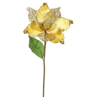 22-inch Gold Magnolia with 8-inch Flower (Pack of 6)