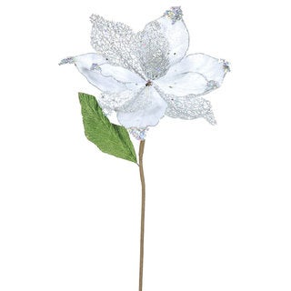 22-inch Silver Magnolia with 8-inch Flower (Pack of 6)