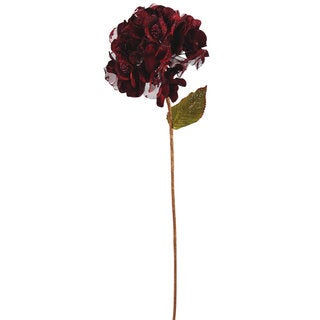 29-inch Burgundy Velvet Hydrangea With 7-inch Flower