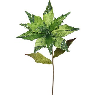 Vickerman Lime 26-inch Poinsettia with 12-inch Flower (Pack of 3)
