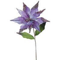 26-inch Purple Poinsettia with 12-inch Flower (Pack of 3)