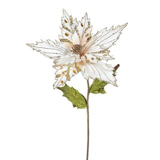 Vickerman 26-inch Rose Gold Poinsettia with 13-inch Flower (Pack of 3)