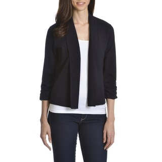 89th& Madison Women's Rayon/ Polyester Open Fly-away Shrug