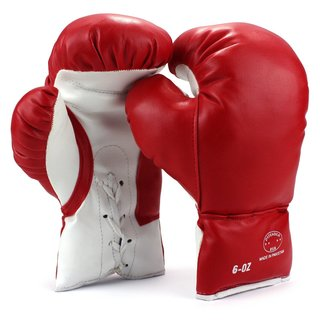 Velocity Toys Kids Lace Up Training Boxing Gloves