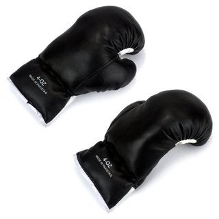 Velocity Toys Kids Black 4-ounce Lace-up Boxing Gloves