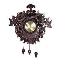 Handmade D-Art Grape Carved Clock Mahogany Wood (Indonesia)