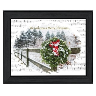 'We Wish You a Merry Christmas' Framed Print