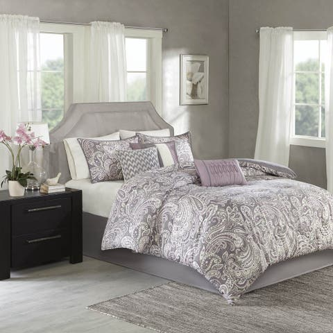 Madison Park Lira Printed Paisley Comforter 7-piece Set