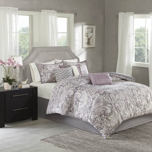 Madison Park Lira Printed Paisley Comforter 7-piece Set (As Is Item). Opens flyout.