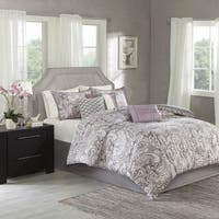 Madison Park Morena Purple Cotton Comforter Set Free Shipping Today Overstock 18382020