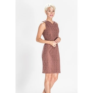 Amelia Sleevless Fully Lined Lace Dress