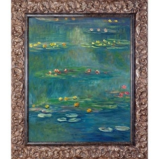 Claude Monet 'Nympheas at Giverny' Hand Painted Framed Canvas Art
