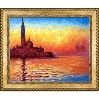 Monet 'San Giorgio Maggiore by Twilight' Hand Painted Oil Reproduction