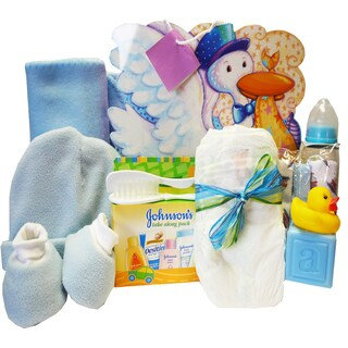 Look What The Stork Brought! Baby Gift Bag (Option: Blue)