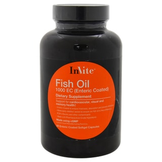 Invite Health Fish Oil 1000ec Supplement Dietary Supplement (90 Softgels)