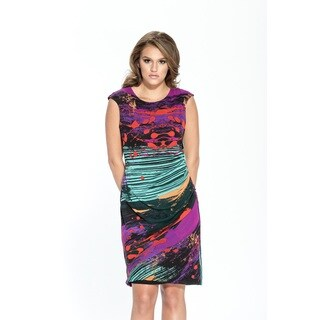Amelia Women's Multicolor Polyester Sleeveless Sheath Dress