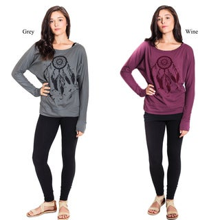 Om Dreamcatcher Organic Long Sleeve Top (Nepal)