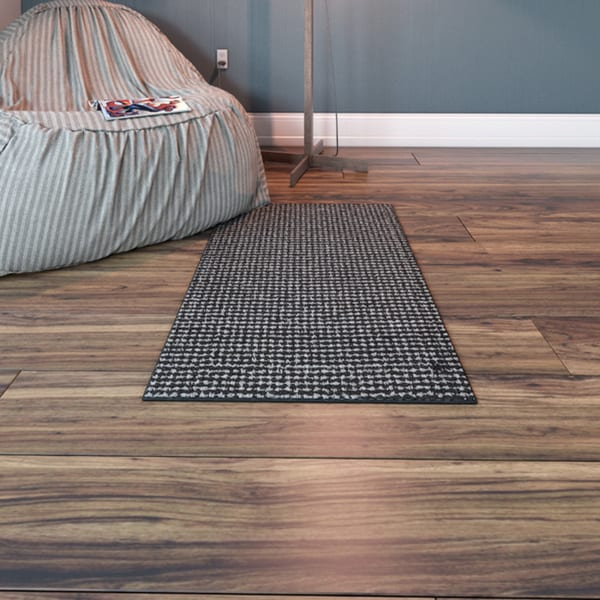 Porch & Den Chesterfield Black/ Charcoal Area Rug - 1'8 x 2'6