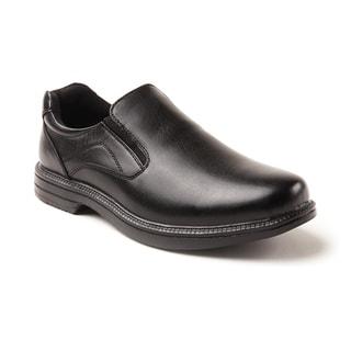 Deer Stags Black Nu Media Twin Gore Waterproof Slip-On Shoes