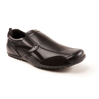Deer Stags Animal Black Faux-leather Slip- and Oil-resistant Slip-on Shoes