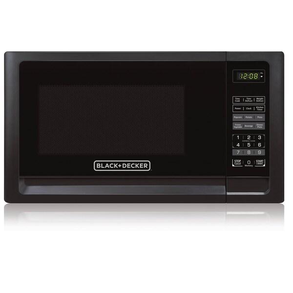 Black+Decker EM720CFO-PMB 0.7 Cu. Ft. Digital Microwave, Black