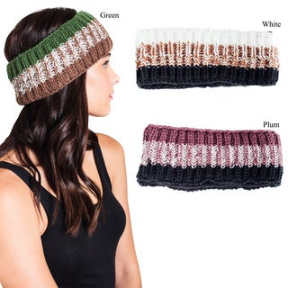 Handmade Women's Soft Knitted Warm Snowboarding Ski Headband (Nepal)