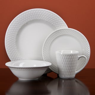 Oneida Satin Weave 32-piece Dinnerware Service for 8