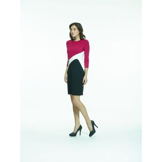 Amelia Ponte Colorblock Dress