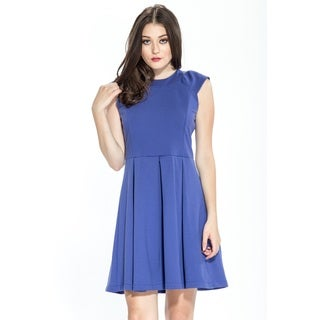 Women's Amelia Solid Fit and Flair Ponte Dress