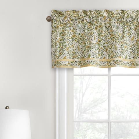 Waverly Paisley Verveine Green Cotton Window Valance