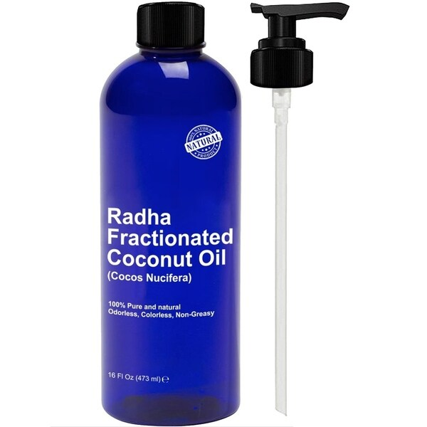 Shop Radha Beauty 16-ounce Fractionated Coconut Oil - Ships