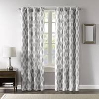 Madison Park Ivy Woven Metallic Ikat Curtain Panel