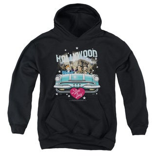 Lucy/Hollywood Road Trip Youth Pull-Over Hoodie in Black