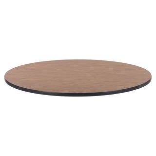 Lorell Medium Oak Laminate Round Activity Tabletop