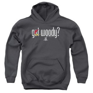 Woody Woodpecker/Got Woody Youth Pull-Over Hoodie in Charcoal