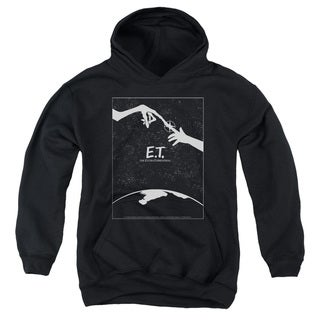 ET/Simple Poster Youth Pull-Over Hoodie in Black