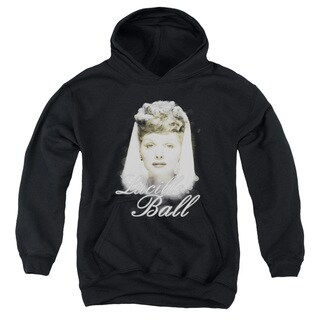 Lucille Ball/Glowing Youth Pull-Over Hoodie in Black