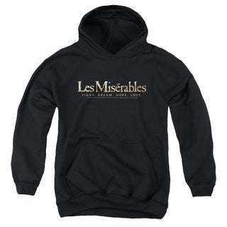 Les Miserables/Logo Youth Pull-Over Hoodie in Black