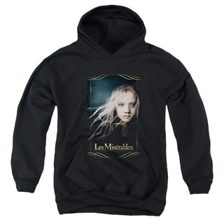 Les Miserables/Cosette Youth Pull-Over Hoodie in Black