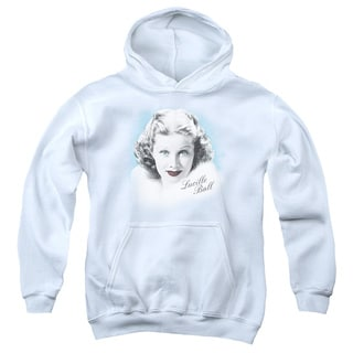 Lucille Ball/In Blue Youth Pull-Over Hoodie in White