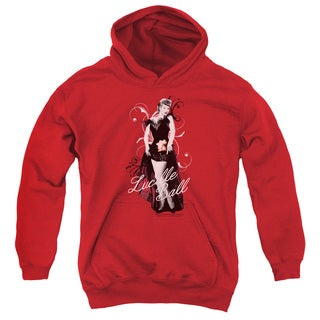 Lucille Ball/Signature Look Youth Pull-Over Hoodie in Red