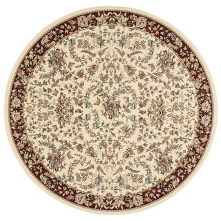 kathy ireland Antiquities Timeless Elegance Ivory Area Rug (3'9 Round) by Nourison