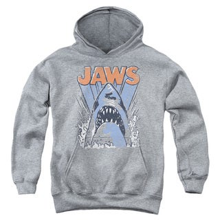 Jaws/Comic Splash Youth Pull-Over Hoodie in Heather