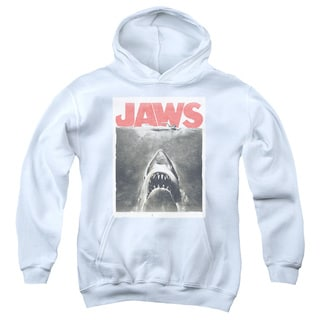 Jaws/Classic Fear Youth Pull-Over Hoodie in White